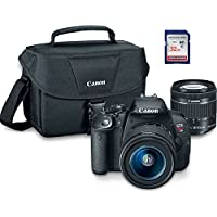 Canon EOS Rebel T5i Digital SLR Camera Kit with EF-S 18-55mm + ES100 Case + 32GB Class 10 SD Card - International Version