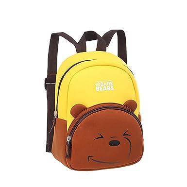 78b194979e7e YOURNELO Kid s Cartoon Contrast Color We Bare Bears Rucksack School Backpack  Bookbag (Grizzly)
