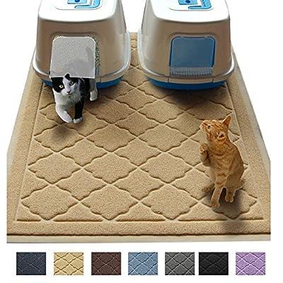 Cat Box Jumbo Litter Mat 47″ x 36″ Cat Litter Mat –...