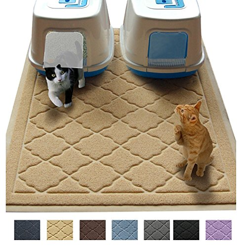 "Jumbo Litter Mat 47"" x 36"" Cat Litter Mat, Traps Messes, Easy Clean, Durable, Non Toxic Trapper Rug - Litter Box Mat, Cat Mat, Kitty Litter Mat from Easyology"