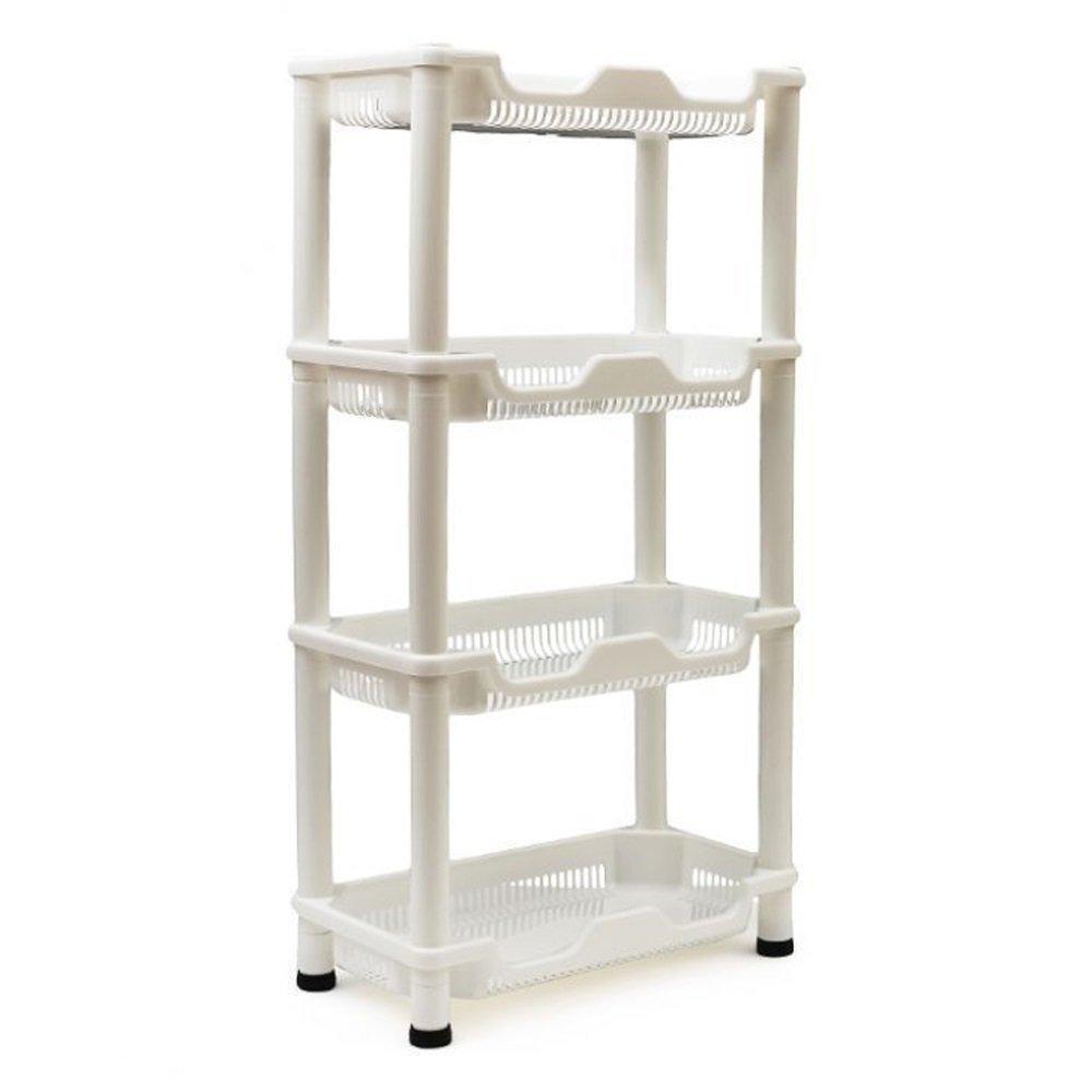 adoraland badregal stehend weiß küchenregal rollen plastik: amazon ... - Küchenregal Auf Rollen