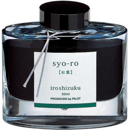 Ink Tree (Pilot Iroshizuku Bottled Fountain Pen Ink, Syo-Ro, Dew on Pine Tree, Dark Turquoise)