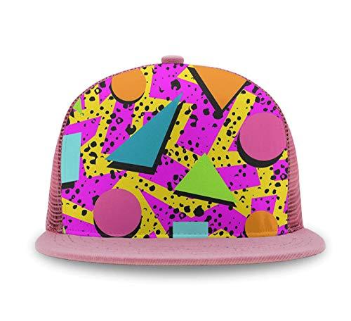 Baseball Hats for Women,Sun Hat Adjustable and Mesh Trucker Baseball Cap(80s Memphis)