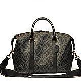 Coach F54776 Signature Voyager Duffle Bag Charcoal/Black