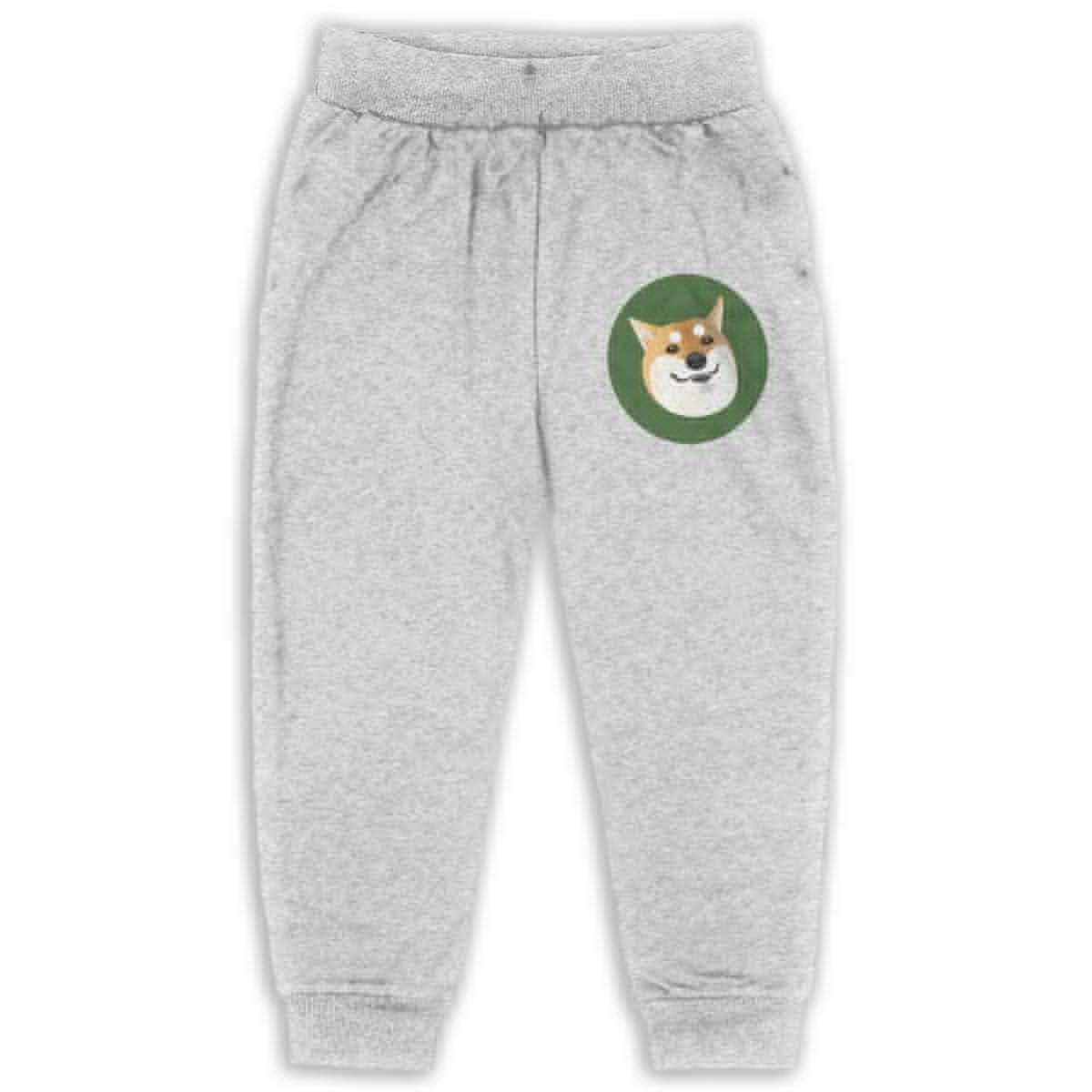 Shiba Inu Logo Kids Cotton Sweatpants,Jogger Long Jersey Sweatpants