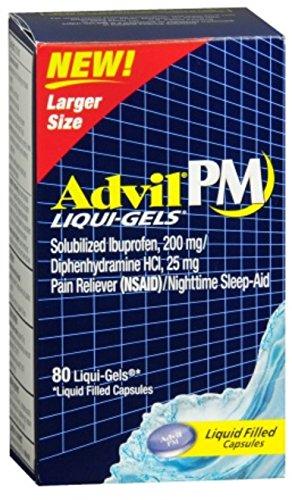 Advil PM Ibuprofen 200 mg Liqui-Gels 80 ea (Pack of 9) by Advil