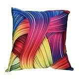 Software : Leyorie Multicolor 3D Print Pillow Cases Polyester Sofa Car Cushion Cover Home Decor (D)