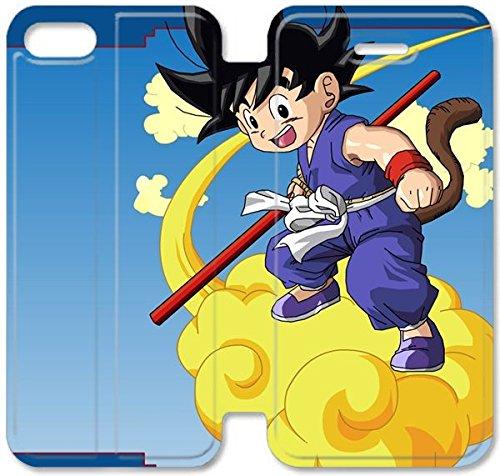 Klreng Walatina® Coque iPhone 6 6s Plus de 5,5 pouces Coque cuir Dragon Ball Anime Widescreen U6U5Oe