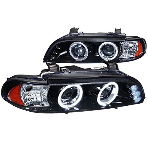 - Spec-D Tuning 2LHP-E3997G-TM Bmw E39 525I 530I 540I Halo Led Black Projector Headlights