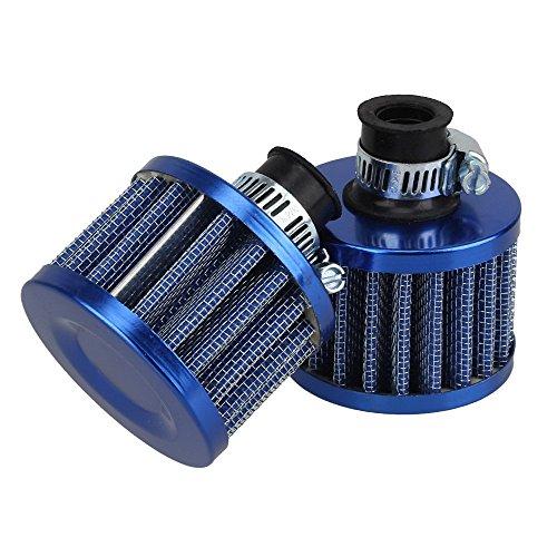 Yiguo 2pcs 13mm Blue Cone Mini Oil Air Intake Crankcase Vent Valve Cover Breather Filter