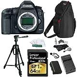 Canon EOS 5D Mark III 22.3MP Full Frame CMOS 1080P Full-HD Video Mode Digital SLR Camera Body, 64GB SD Card, 70 Inch Tripod, Bag and Accessory