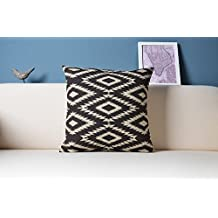 Aztec pillow cover Black and white pillow cover Kilim cushion case Linen tribal pillow cover 18x18
