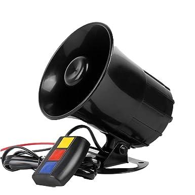 Amazon.com: BaronHong Universal 12V Alarm Auto Moto 3 Tone ...
