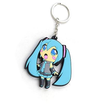 Hatsune Miku PVC Figura colgante llavero: Amazon.es: Oficina ...