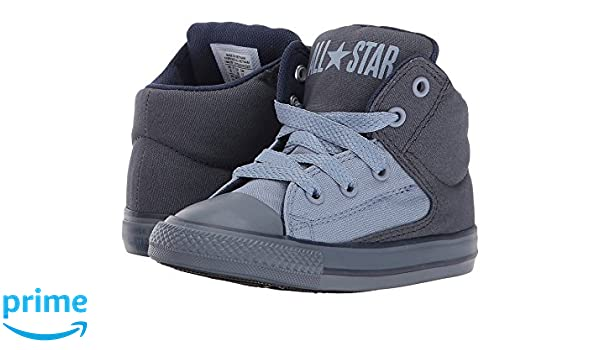 606f04c84505 Amazon.com: Converse Kids Chuck Taylor All Star High Street Canvas Mix Hi  Infant/Toddler Sharkskin/Blue Slate/Midnight Boy's Shoes: Shoes