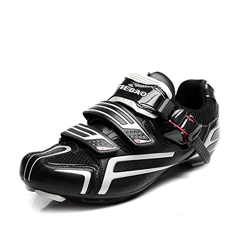 Tiebao Road Highway Radfahren Schuhe Rutschfeste Selbstsichernde Fahrradschuhe Sportschuhe Schwarz