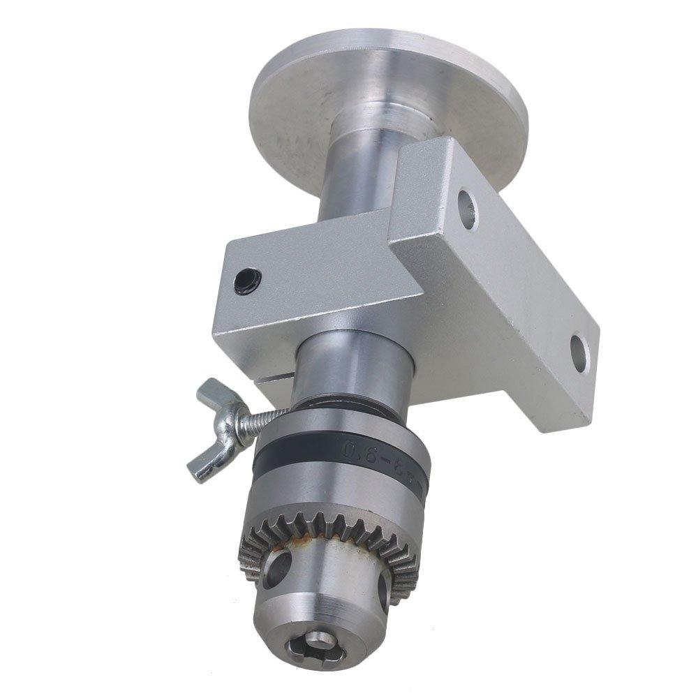 argento CNBTR Mandrino per contropunta per mini tornio in alluminio 130 x 60 x 51,5 mm acciaio