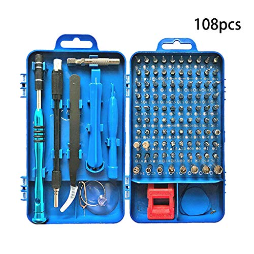 ningyi683 108 in 1 High Precision Screwdriver Set Disassemble for Tablets Phone Computer Watch Mini Electronic Repair Tools Kit