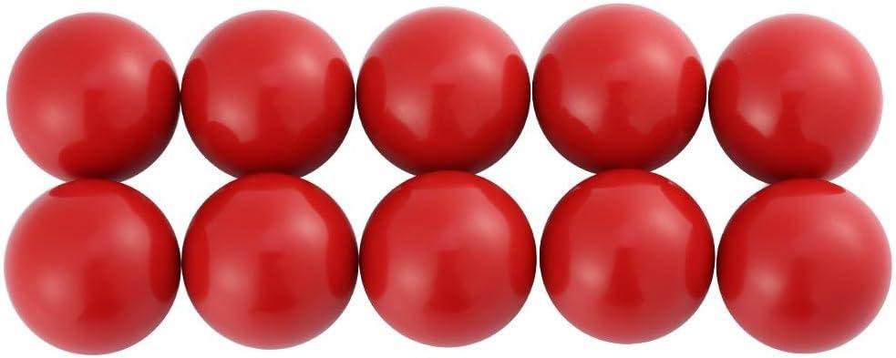 10Pcs Thread Lathe Machine Plastic Ball Knob Handle Black Female Thread Lathe Machine Plastic Ball Knob Handle Black AM8*25-red