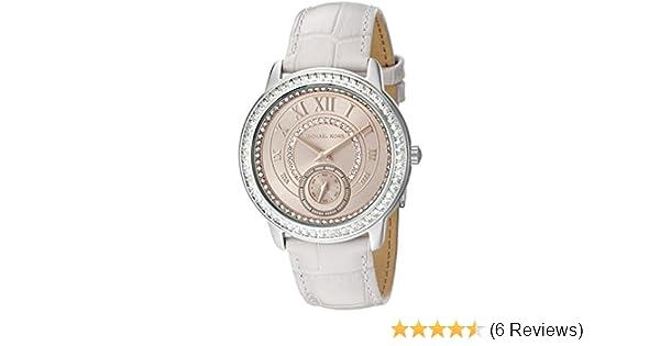 6da56a6ecaed Amazon.com  Michael Kors Women s Madelyn Stainless Grey Watch MK2446  Michael  Kors  Watches