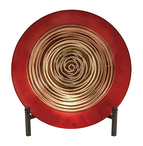Metal Decorative Bowl (Benzara 62408 Glass Bowl Metal Easel Can Be Placed Anywhere)