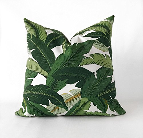 - 16x16 Banana Leaf Tommy Bahama Vacation Hollywood Resort Glam Decor Pillow Cover | Great for Dorms