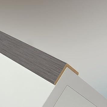 Winkelleiste Schutzwinkel Winkelprofil Tapeten-Eckleiste Abschlussleiste Abdeckleiste aus MDF in Eiche 2600 x 32 x 32 mm