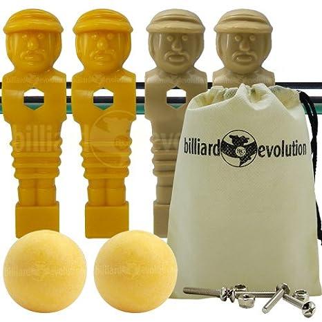 4 marrón y amarillo torneo estilo futbolín Hombres y 2 bolas de ...
