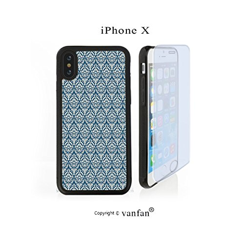 iPhone X Case, vanfan iphone X/10 Case-namentalamask Pattern Victorian Style Baroque Organ(black) Design Hard PC Back Protective Cover Skin Case For Apple iphone X-iPhone X Screen Protector Gift (Organ Victorian)