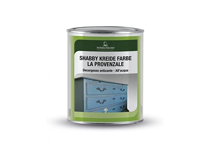 1 opinioni per BORMA WACHS Pittura gesso per pareti e mobili Shabby Chic- 750ml- Azurro