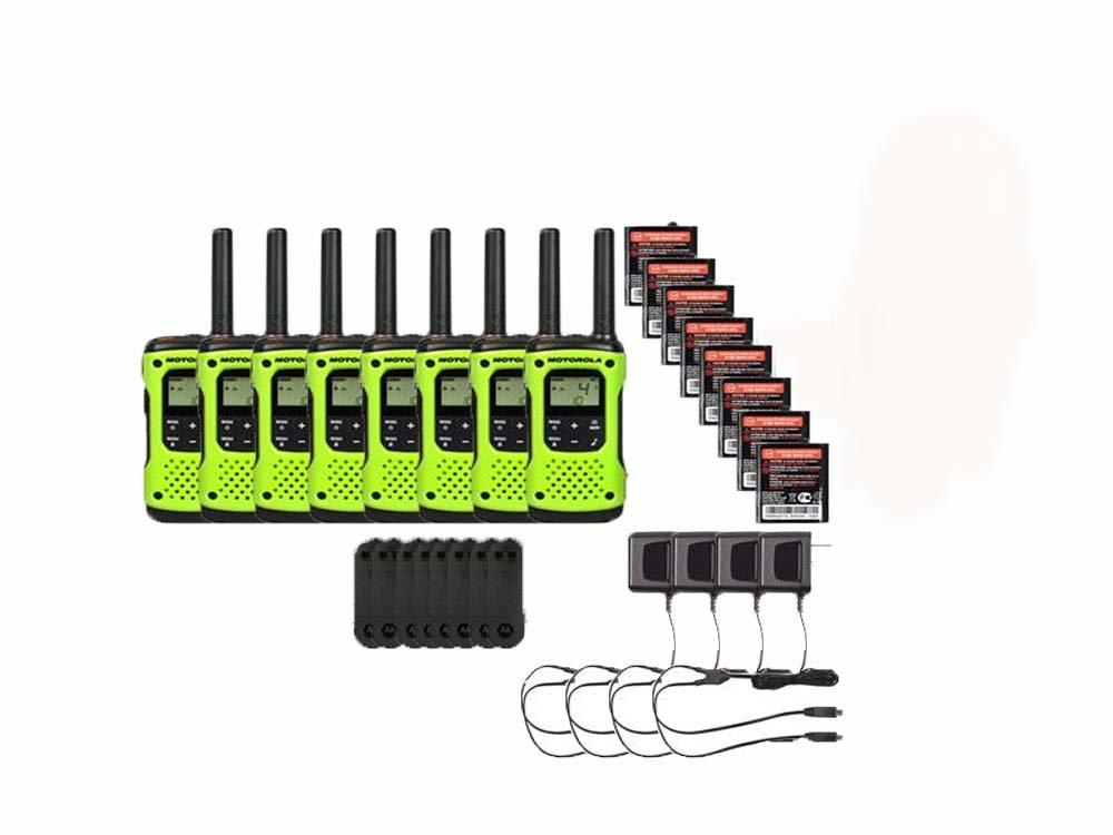Motorola FRS/GMRS T600 Two-Way Radios / Walkie Talkies - Rechargeable & Fully Waterproof 8 PACK by Motorola (Image #1)