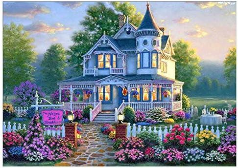 Ruikey ガーデンハウス DIYクリエイティブダイヤモンド5d絵画クロスステッチクラフト画材装飾装飾クリエイティブクリエイテ