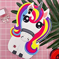 Unicorn Case for LG X Power, Girl Cartoon Phone Cute Silicone Full Body Protection Shockproof Cover, 3D Protector for Kids Girls Women Lady (LG X ...