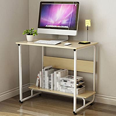 WSSF- mesa de ordenador portátil Mesa portátil para ordenador portátil Personalidad creativa Dormitorio Pequeña Mesa de aprendizaje Mesa multifuncional para ...
