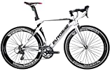 EUROBIKE XC7000 16 Speed Road Bike 54 Cm Light Aluminum Frame 700C Road Bicycle White 60 Review