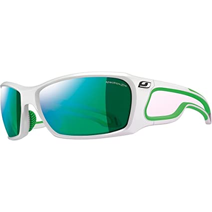 Julbo Pipeline Sunglasses Shiny White   Green   Spectron 3CF   Green One  Size 3ec0705351ed