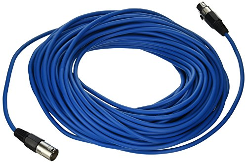 SEISMIC AUDIO - SAXLX-100 - 6 Pack of 100' Blue XLR Male to XLR Female Microphone Cables - Balanced - 100 Foot Patch Cords by Seismic Audio