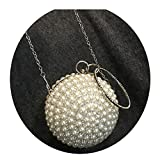 Fashion Pearl Auger Tassel Auge Cross Body Bag for Party Date
