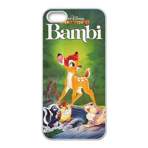 Bambi coque iPhone 4 4S Housse Blanc téléphone portable couverture de cas coque EBDOBCKCO10512