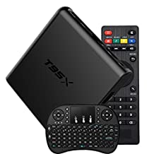 TV Box With Keyboard - TopYart T95X TV Box Android 6.0 2GB/8GB Amlogic S905X 64bit Quad Core Ultra HD 4K 60fps H.265 with WiFi Smart Set Top Box + Wireless Keyboard (2+8)