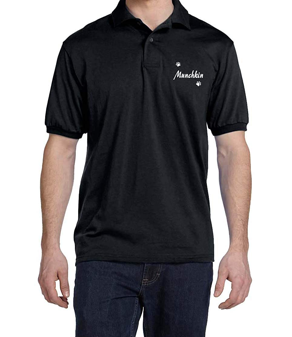 Munchkin Dog Paw Puppy Name Breed Polo Shirt Clothes Men Women