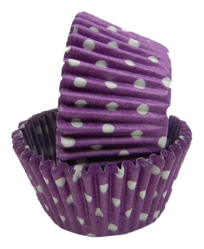 Regency Wraps Greaseproof Baking Cups, Purple Polka Dot, 40-Count, Standard. -