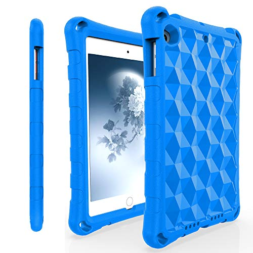 iPad Mini Tablet Case,iPad Min 5 Case,iPad mini 4 Case,Mr.Spades Light Weight [Kids and Adult Friendly] Anti-Slip Shock-Absorption Tablets Cover for iPad Mini 5 & iPad Mini 4 - Blue