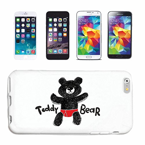 "cas de téléphone iPhone 7S ""DOUX OURS AVEC COUCHE POLAR BEAR TEDDY BEAR BEAR"" Hard Case Cover Téléphone Covers Smart Cover pour Apple iPhone en blanc"