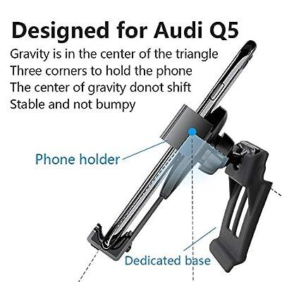 LUNQIN Car Phone Holder for Audi Q5 SQ5 2008-2016 Auto Accessories Navigation Bracket Interior Decoration Mobile Cell Phone Mount