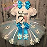 Frozen Elsa Snowflake Tutu Outfit