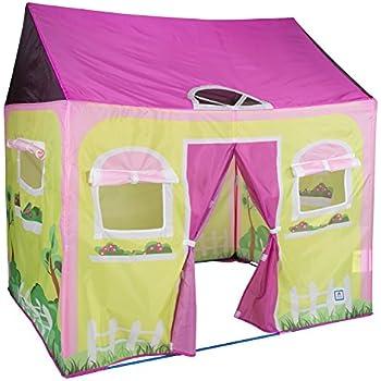 child indoor tent. Pacific Play Tents Kids Cottage House Tent Playhouse for Indoor  Outdoor Fun 58 x 48 Amazon com Girl City Secret Garden