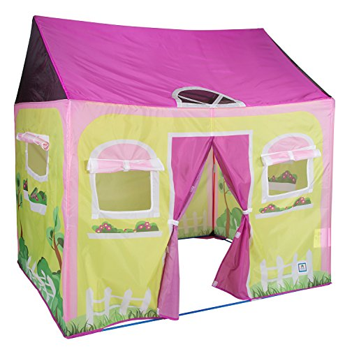 "Pacific Play Tents Kids Cottage Play House Tent Playhouse for Indoor / Outdoor Fun - 58"" x 48"" x 58"""