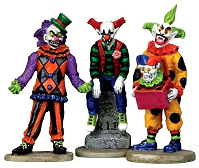 Lemax Spooky Town Evil Sinister Clown Set of 3 #12885