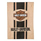 Harley-Davidson Bar and Shield Burlap Garden Flag